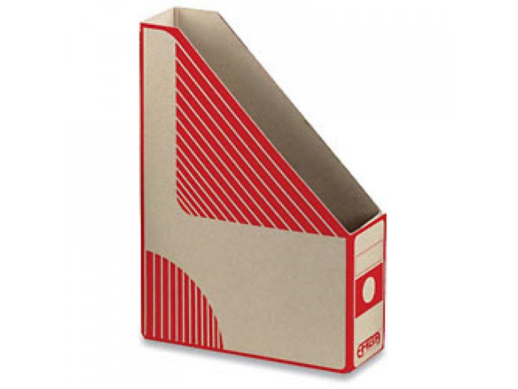 Emba Magazin Box - kartonový, zkosený, červený