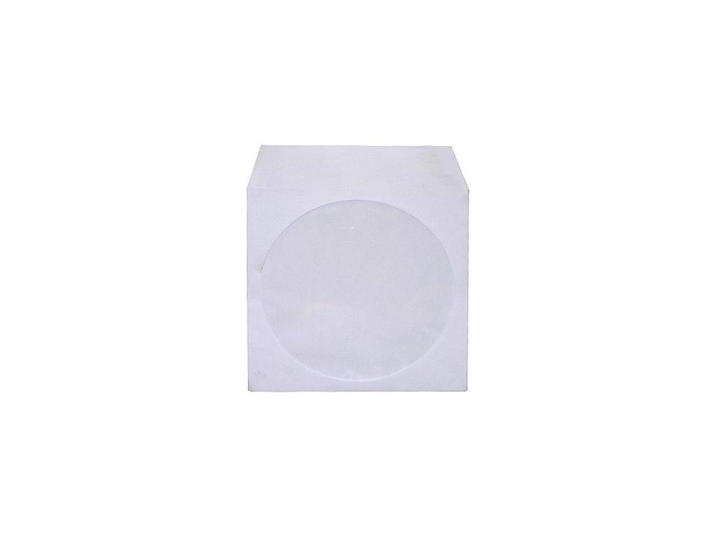 Papírová obálka na CD/DVD bílá, 100 ks