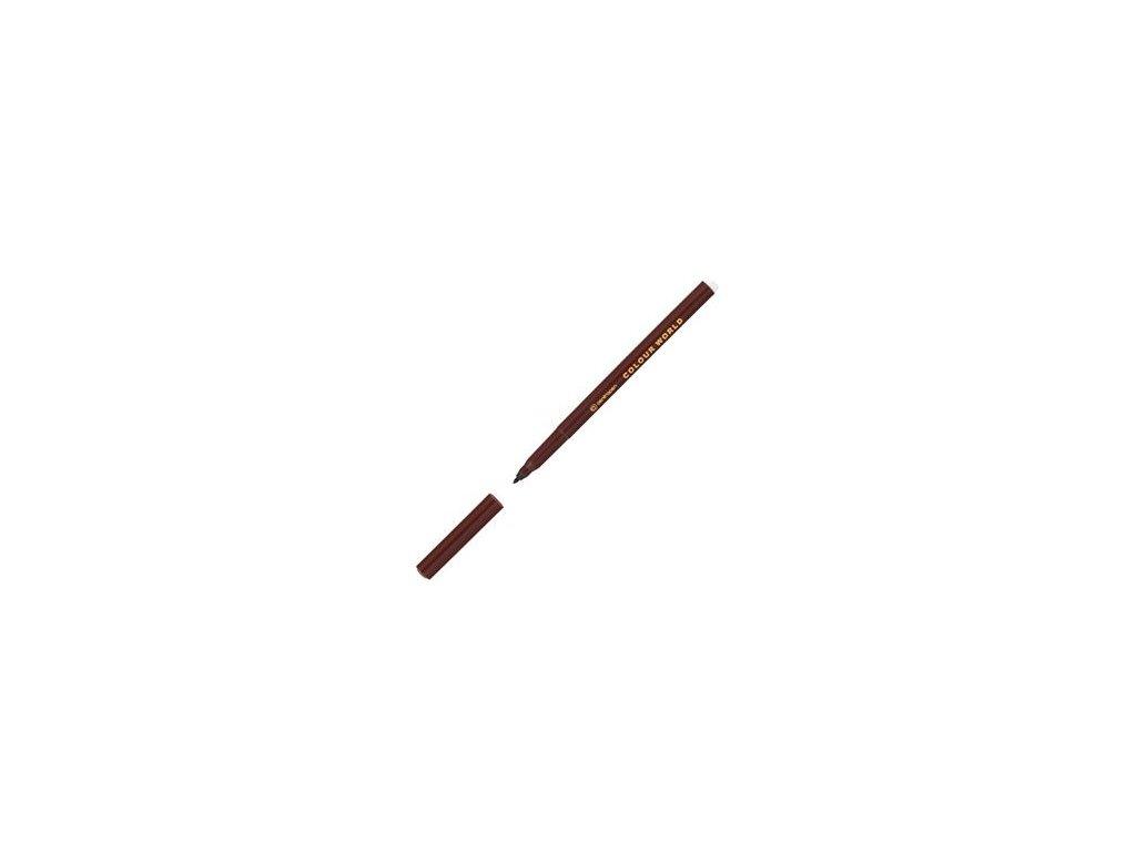 Popisovač Centropen 7550 hnědý 1 mm