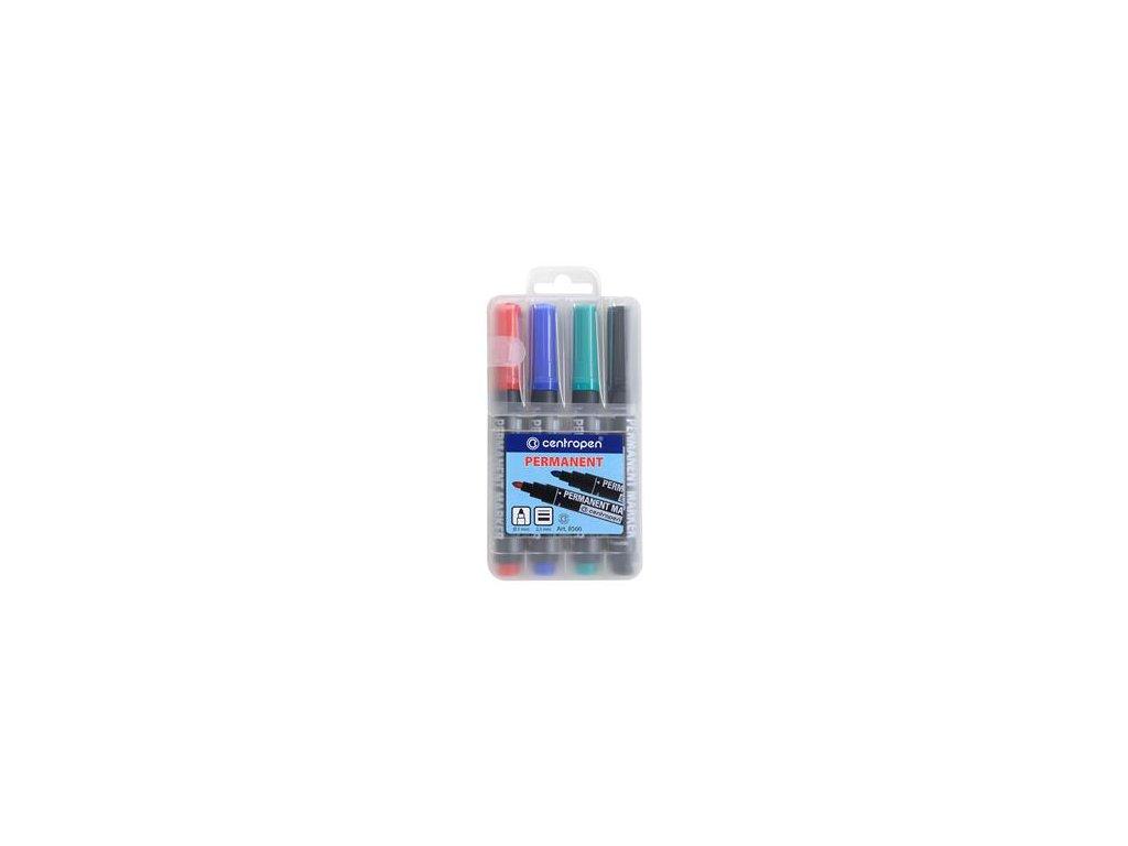 Popisovač Centropen 8566 sada 4 barvy 2,5 mm