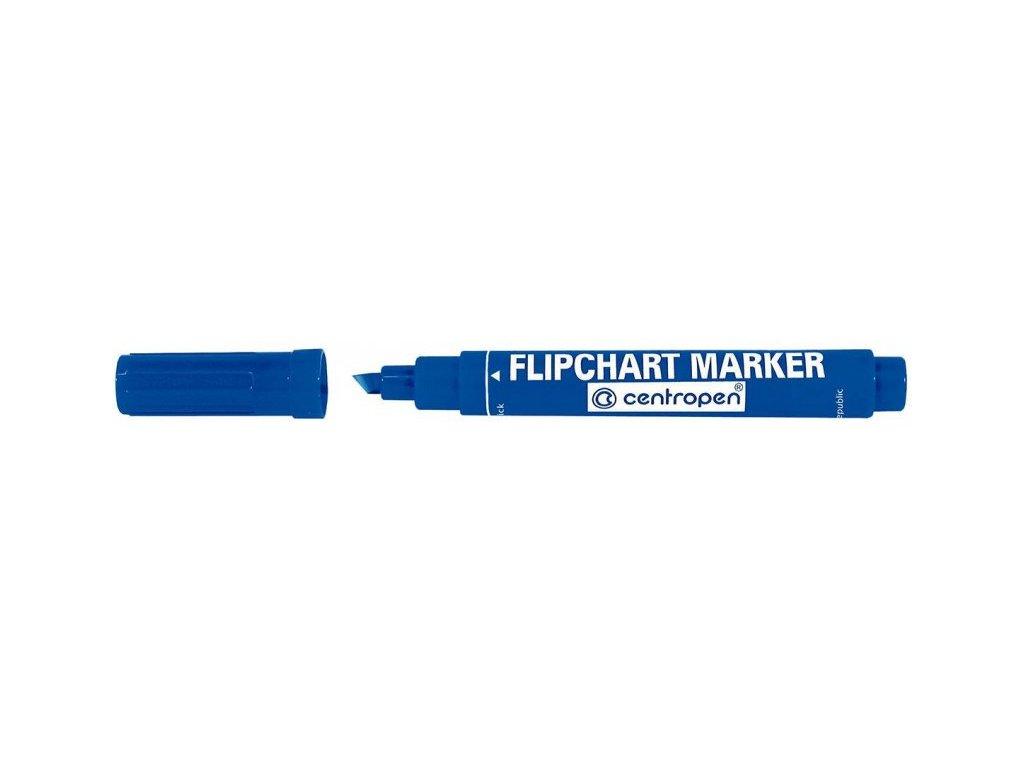 Popisovač Centropen 8560 na flipchart, 1-4,6 mm - modrý