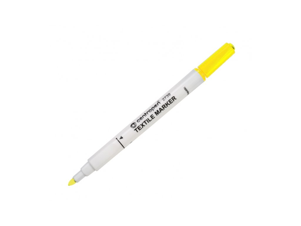 Popisovač Centropen 2739 na textil - žlutý