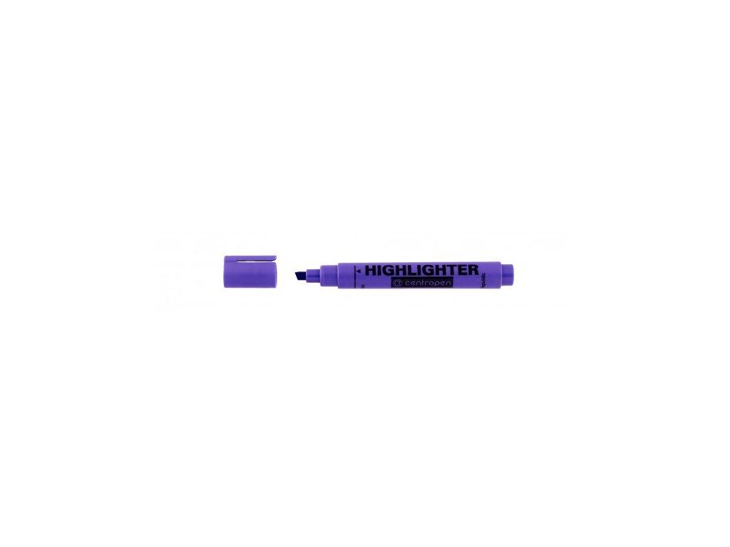 Zvýrazňovač Centropen 8552 FAX 1-4,6 mm fialový