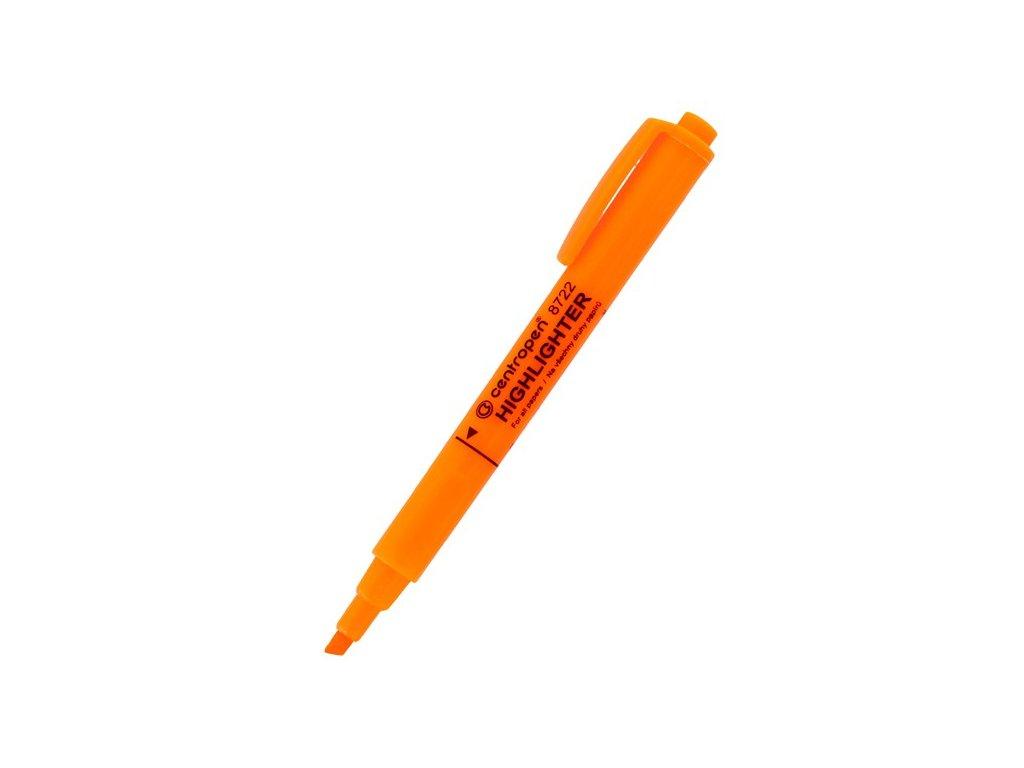 Zvýrazňovač Centropen 8722 1-4 mm oranžový