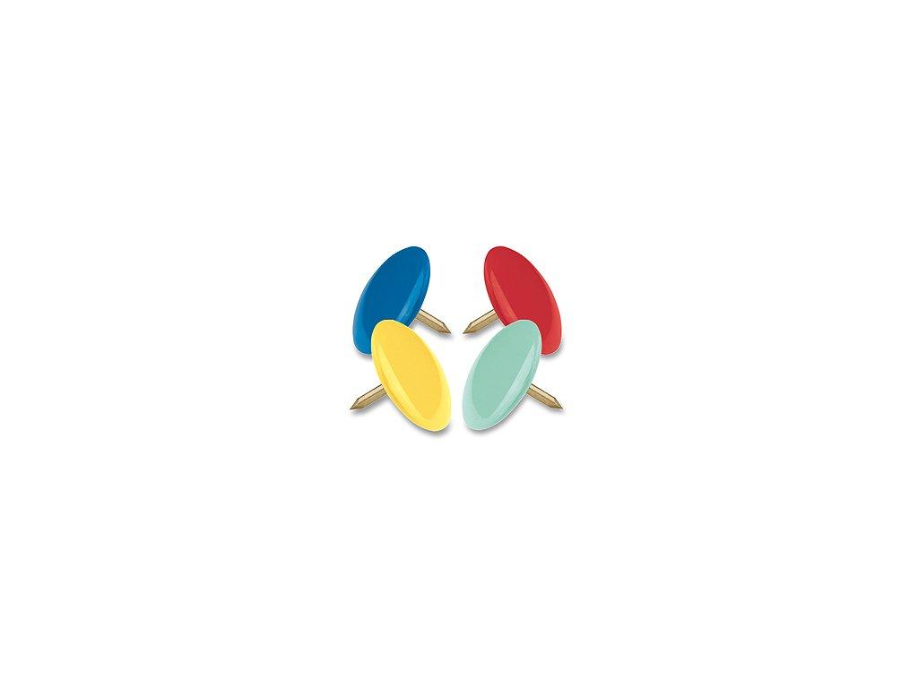 Připínáčky barevné 50ks