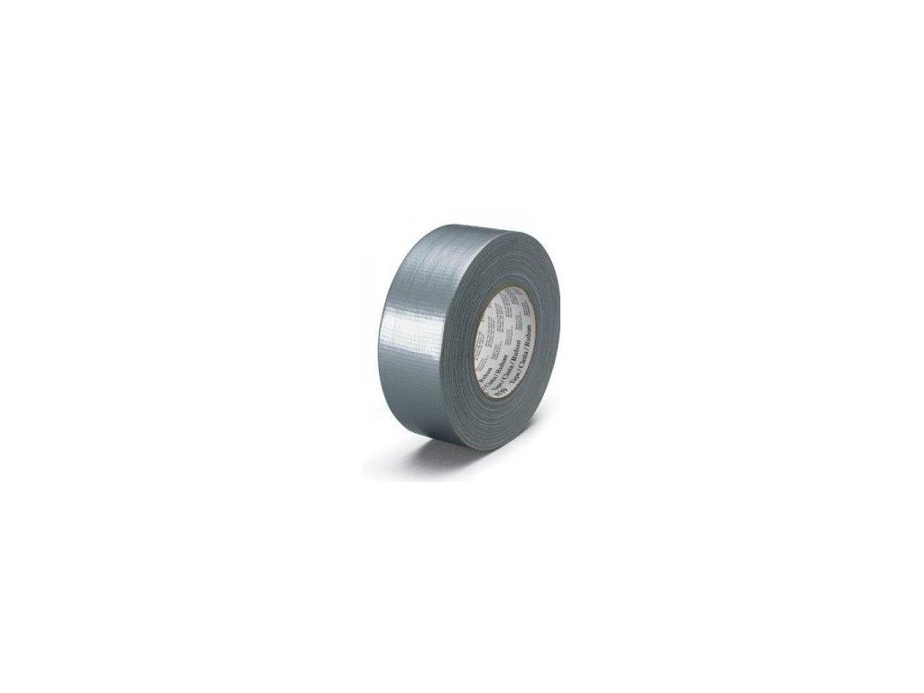 Lepící páska 48mm x 50m stříbrná s tkaninou