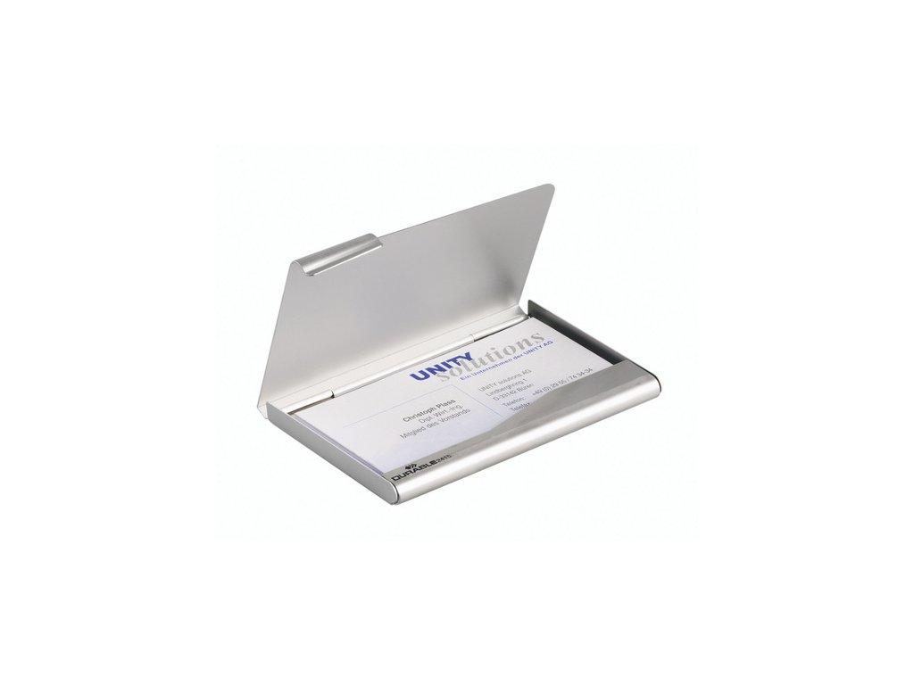Krabička na vizitky kovová