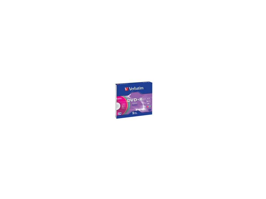 Verbatim DVD+R 4,7GB 16x, slimbox - 5ks