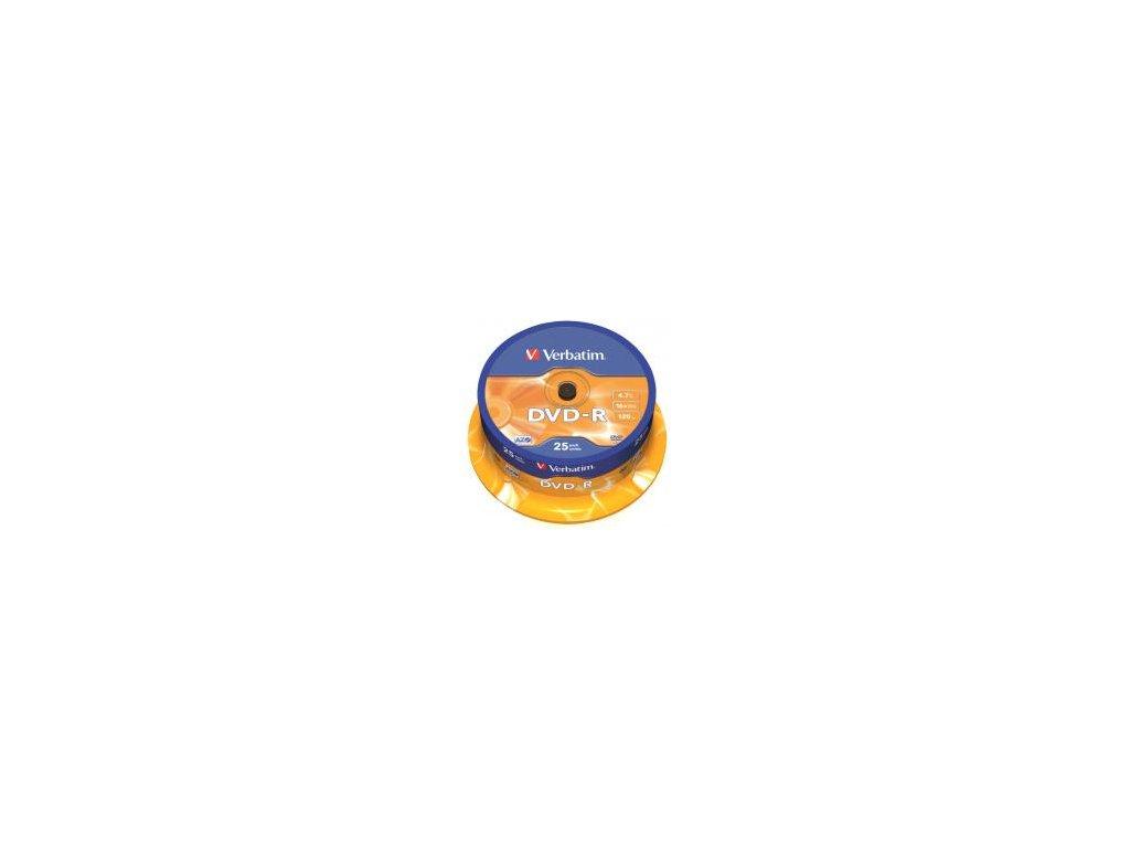 Verbatim DVD-R 4,7GB 16x, Printable, spindle - 25ks
