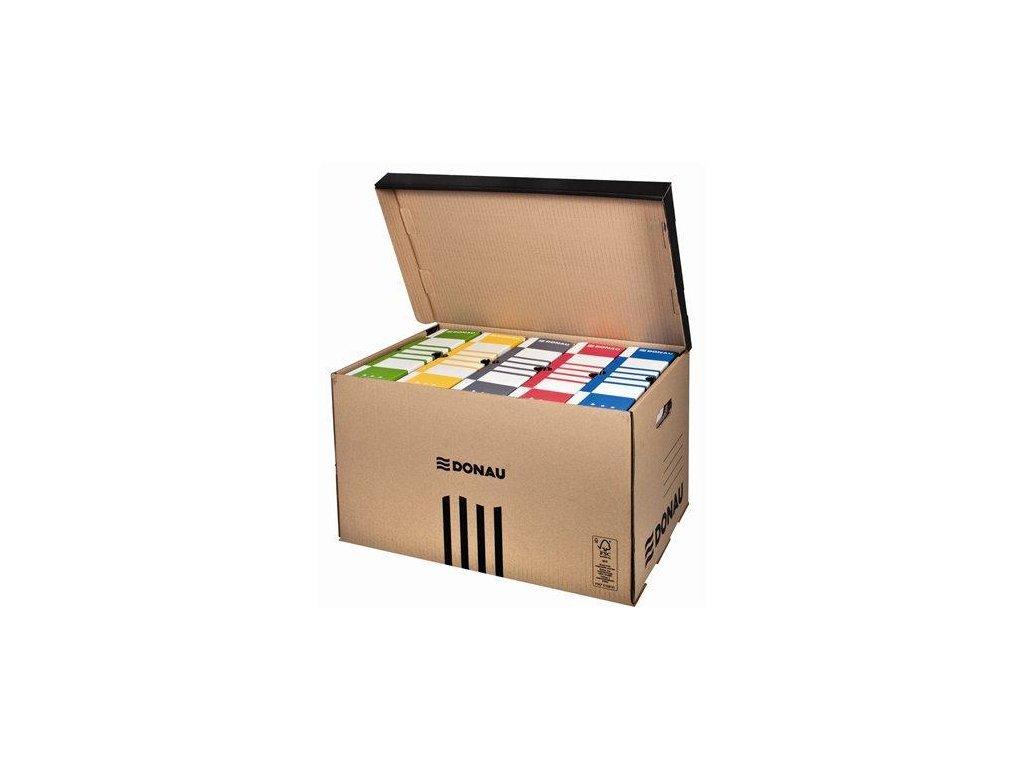 Donau archivační krabice s víkem na 6ks pořadačů