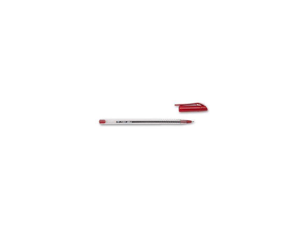 Pero kuličkové Flair 007 jednorázová červená