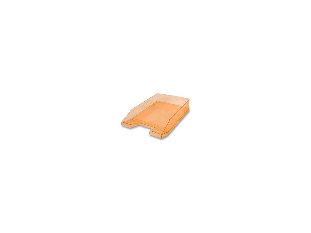 Kancelářský odkladač Transparent - oranžový