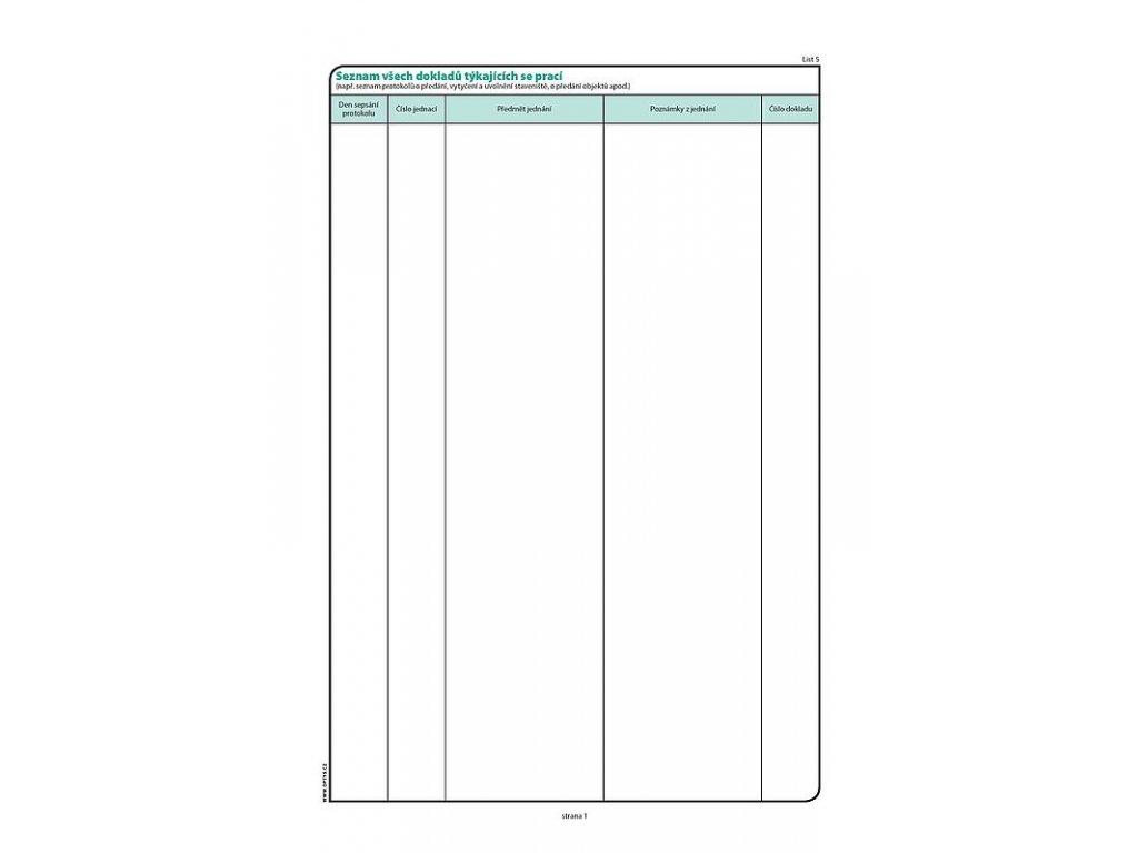 Stavební deník A4, samoprop., číslovaný, 53 listů 1268