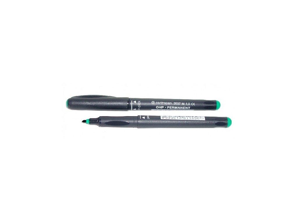 Popisovač Centropen 2637 permanent zelený 1mm