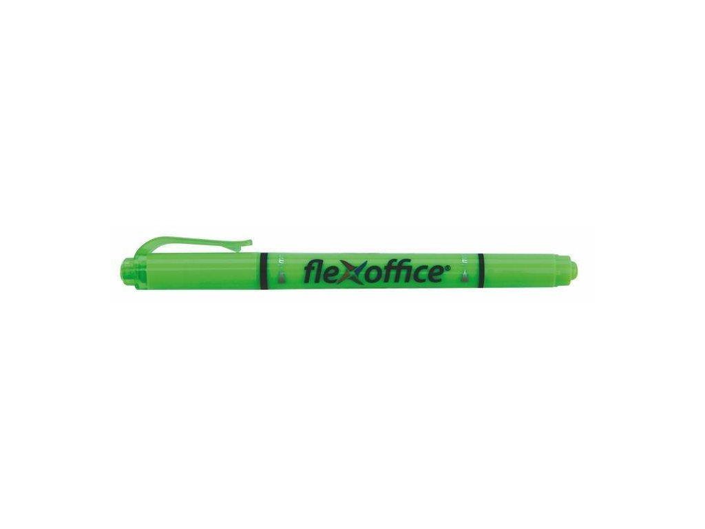 Zvýrazňovač Flexoffice HL01, oboustranný, 1 4 mm, zelený