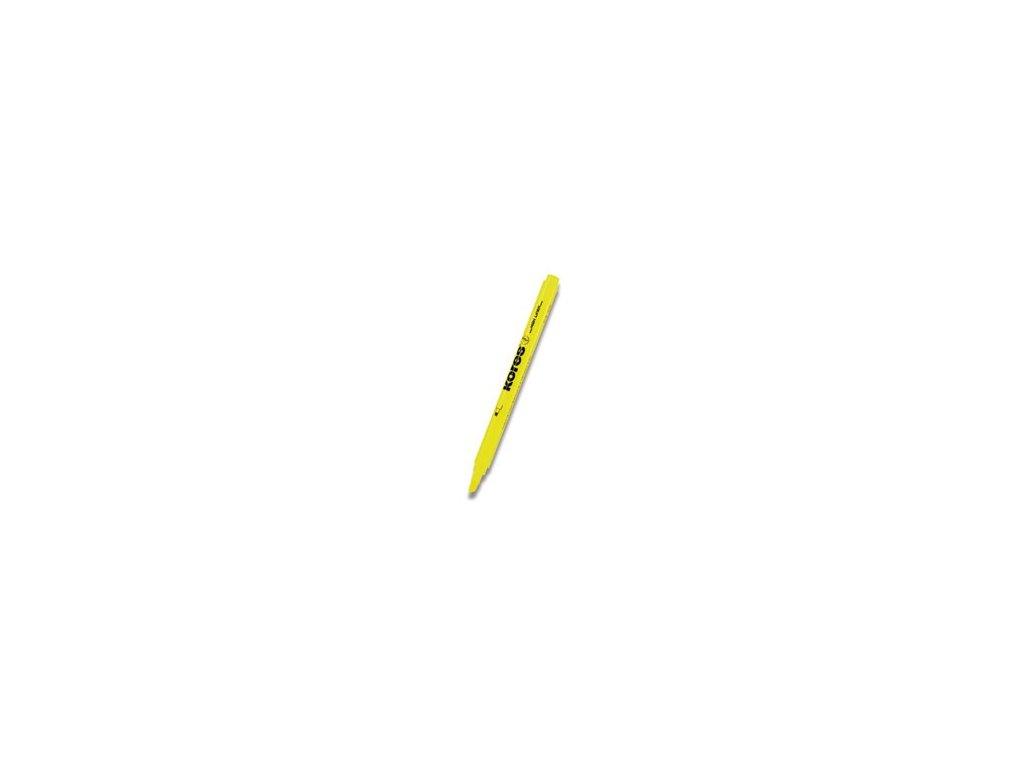 Zvýrazňovač Kores HighLiner žlutý