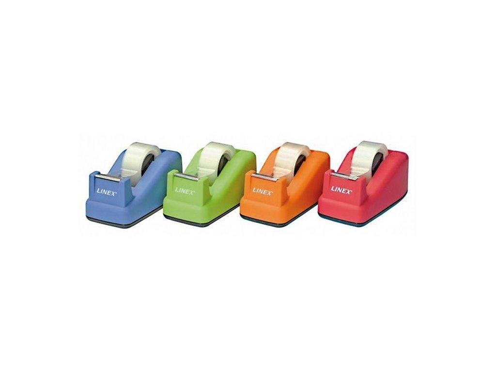 Stolní odvíječ lepicí pásky Linex - MIX barev