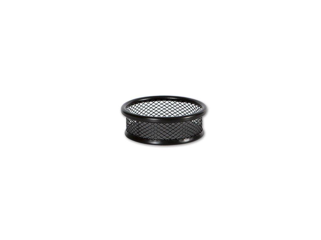 Drátěný kalíšek kulatý na sponky - černý