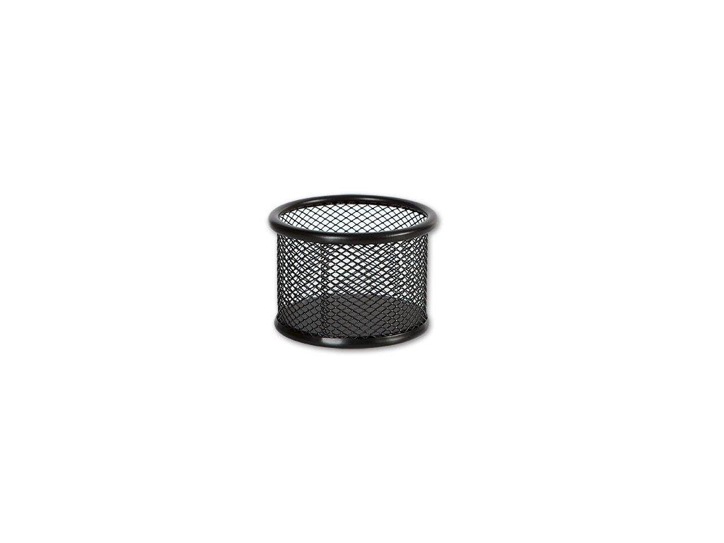 Drátěný kalíšek kulatý střední - černý