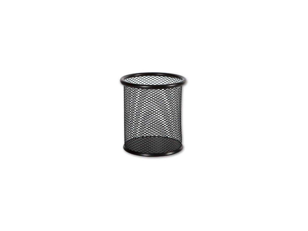 Drátěný kalíšek kulatý velký - černý