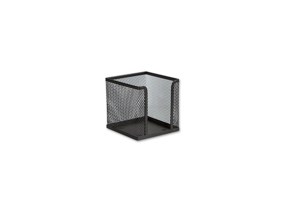 Drátěný stojánek na bločky - černý