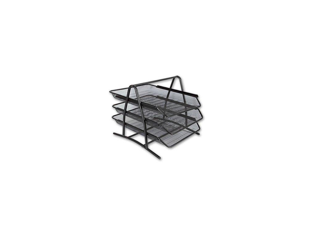 Drátěný trojbox černý