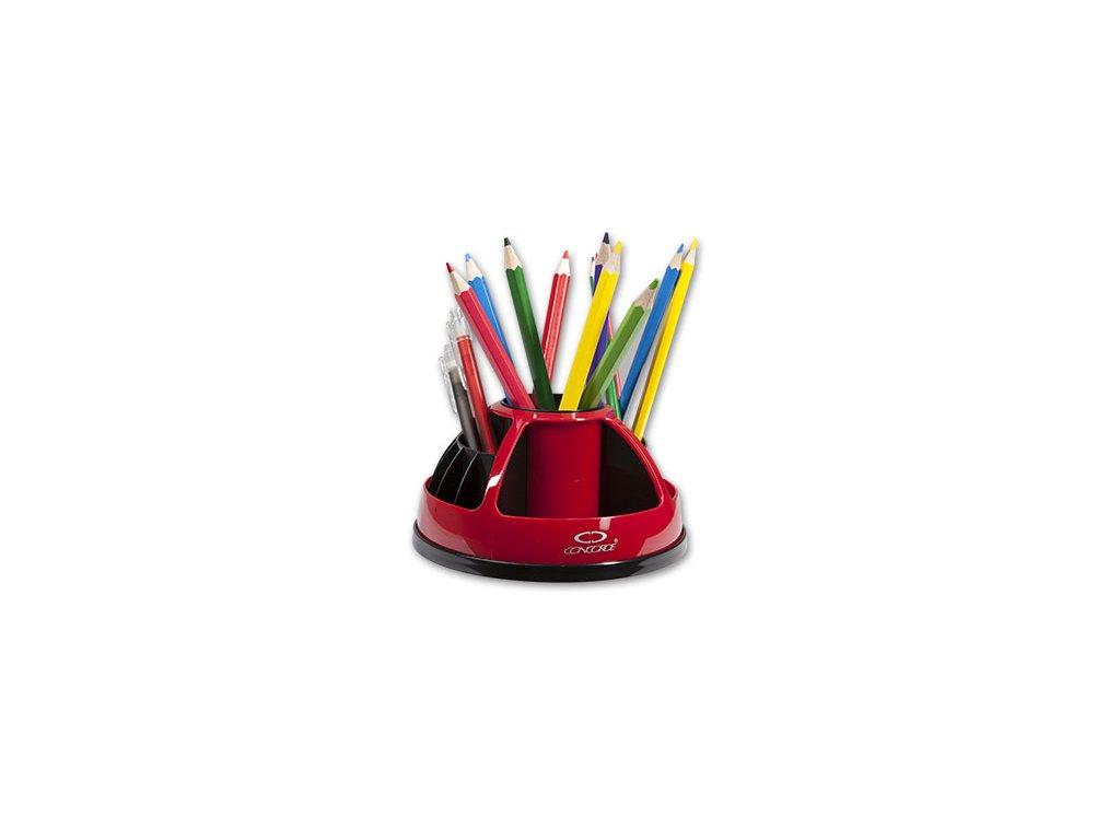 Stojánek na psací potřeby CONCORDE otočný červený