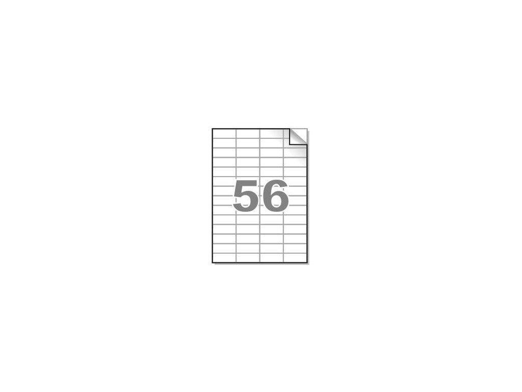 Samolepící etikety A4, 52,5x21,2 mm, 56ks/arch - hranaté 100l.