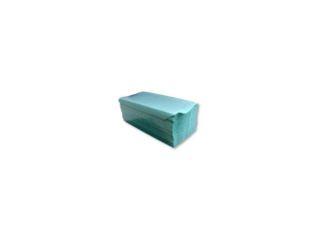 Papírové ručníky Z-Z 1 vrstva 250 zelené