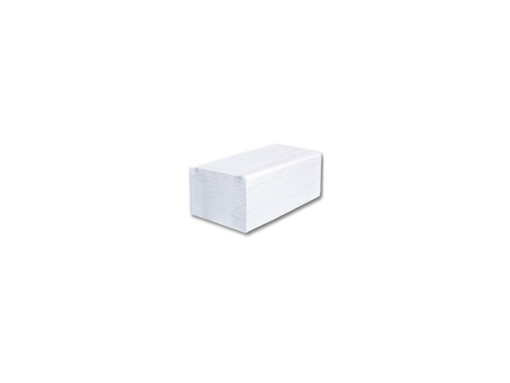 Papírové ručníky Z-Z, celulóza, 2 vrstvy, bílé