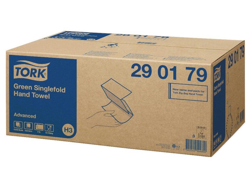 Papírové ručníky Z-Z Tork Advanced 290179, 2 vrstvy zelené