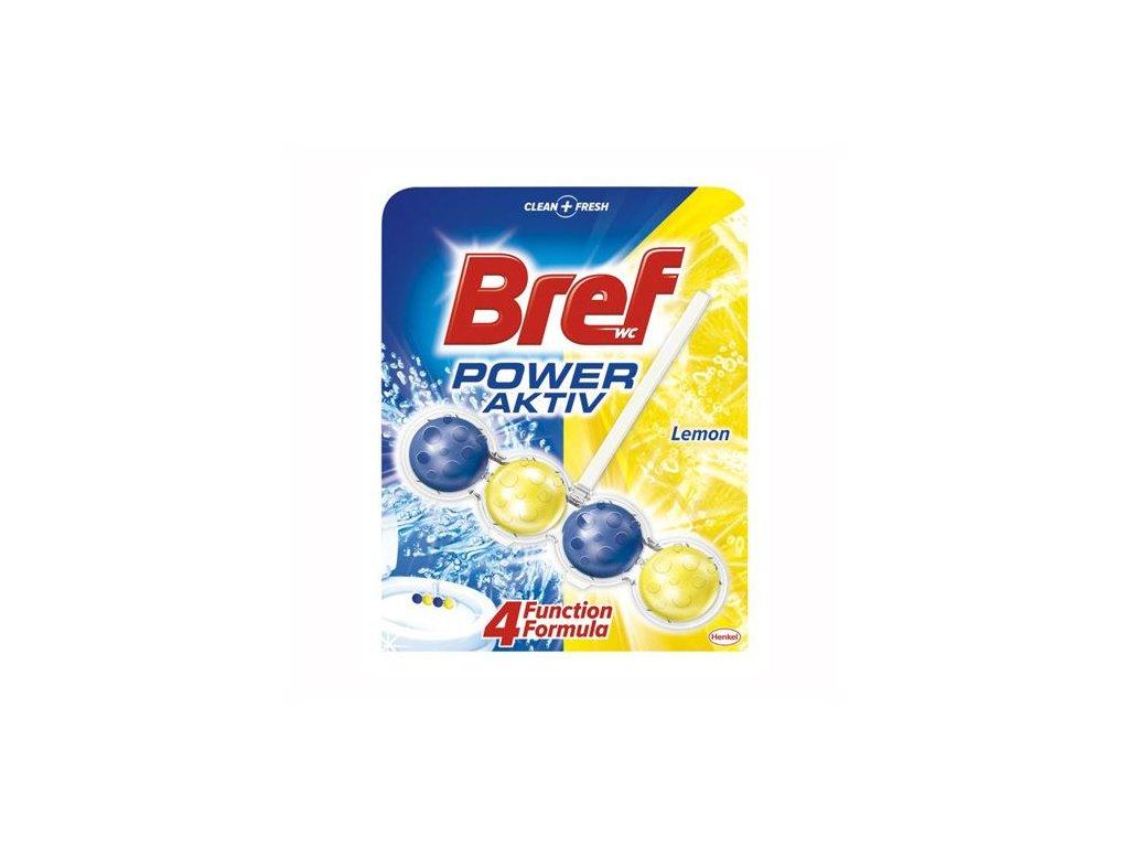 WC závěs Bref Power Active Lemon - kuličky 51g