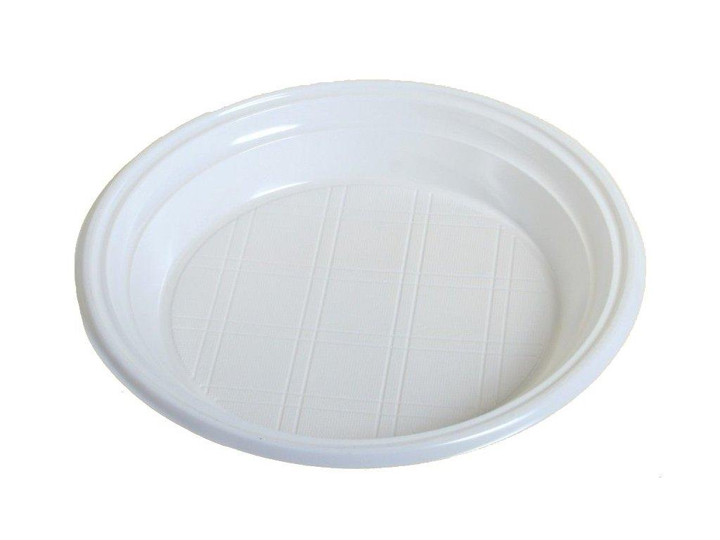 Talíř plastový, průměr 22cm 100ks