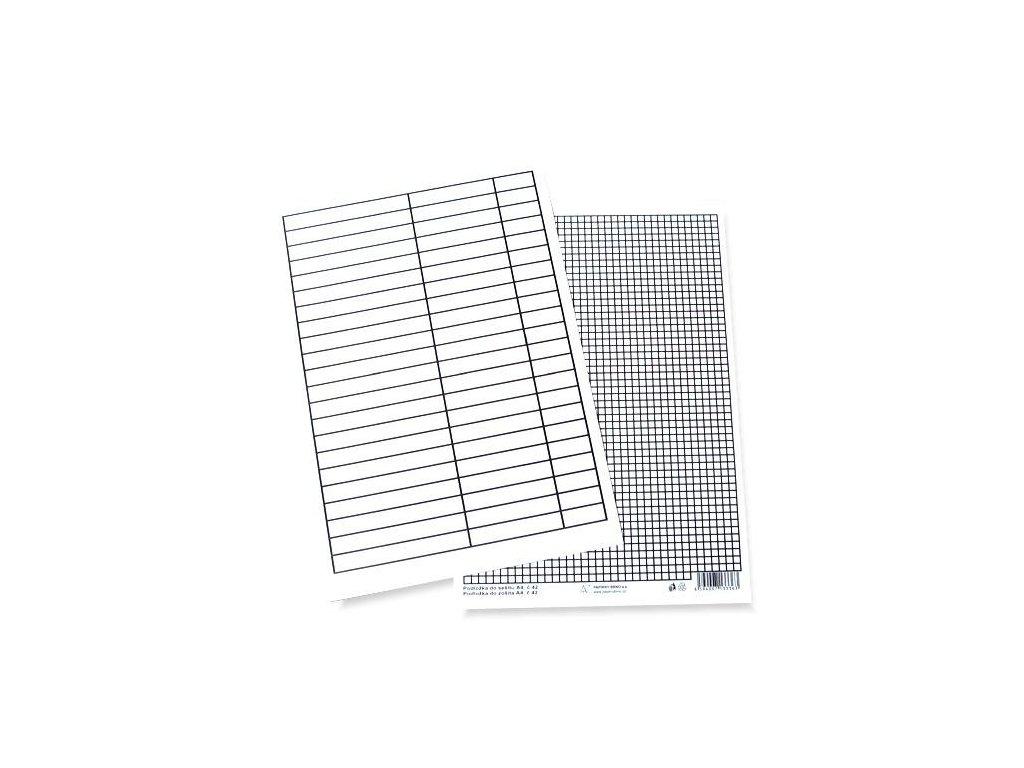 Podložka papírová A4 80g, linka - čtvereček
