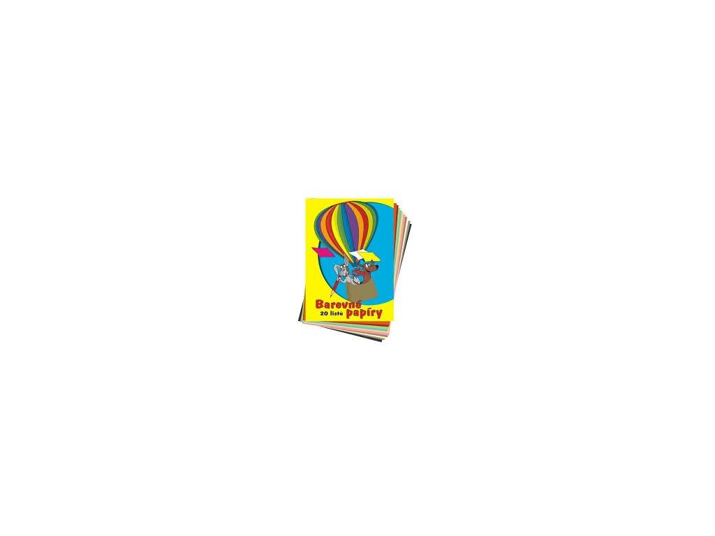 Složka barevných papírů A4 80g,, 20 listů
