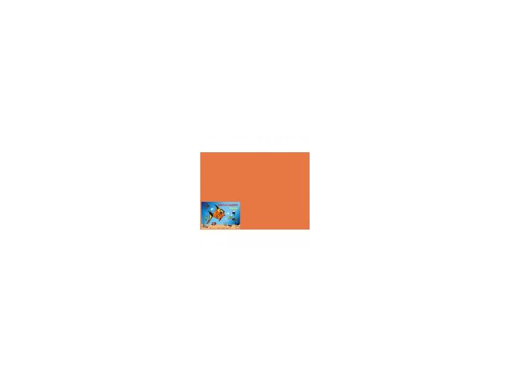 Karton A4 180g, oranžový 50 listů