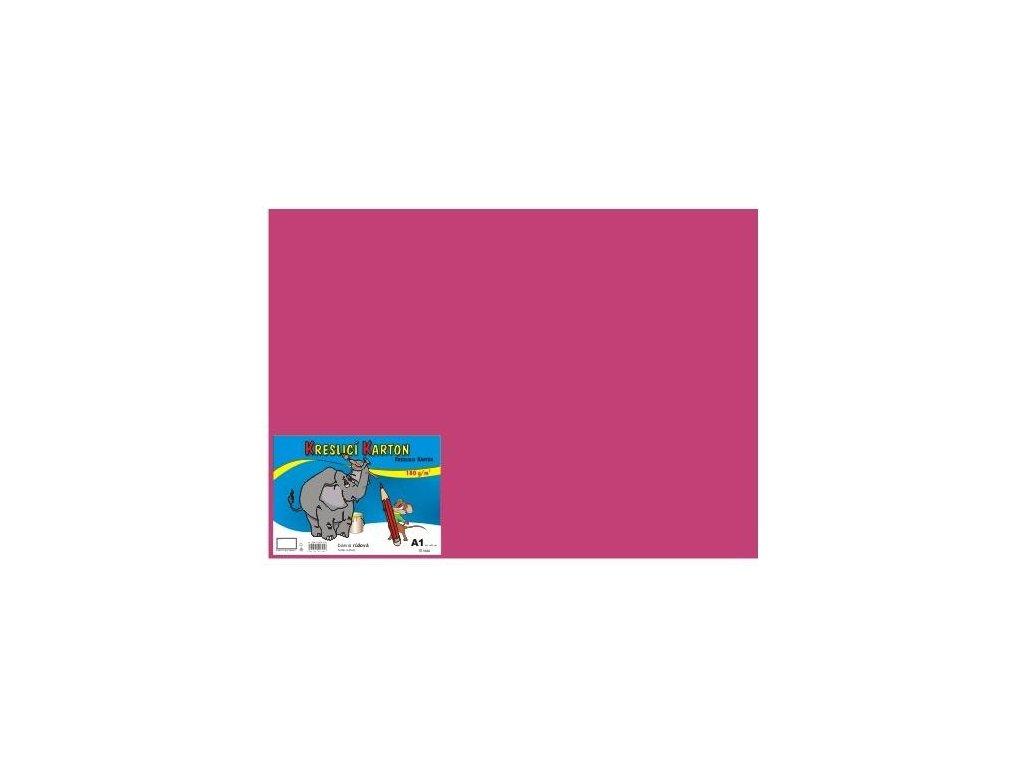 Karton A4 180g, růžový 50 listů