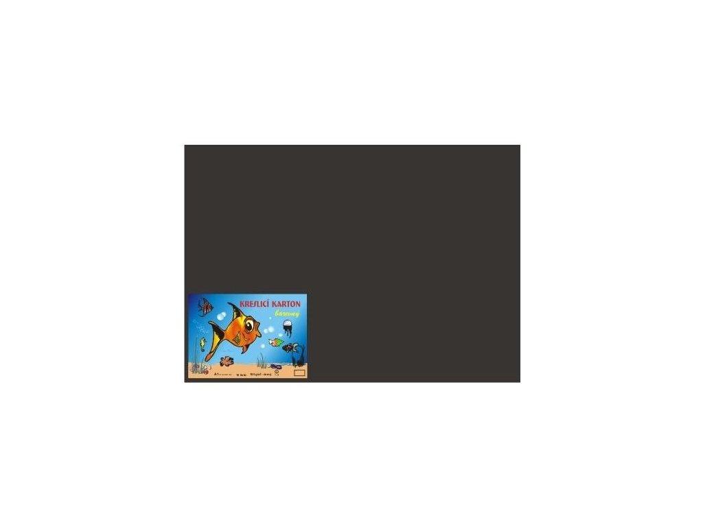 Karton A4 180g, černý 50 listů