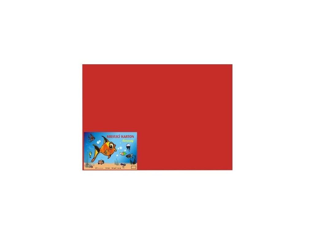 Karton A4 180g, červený 50 listů