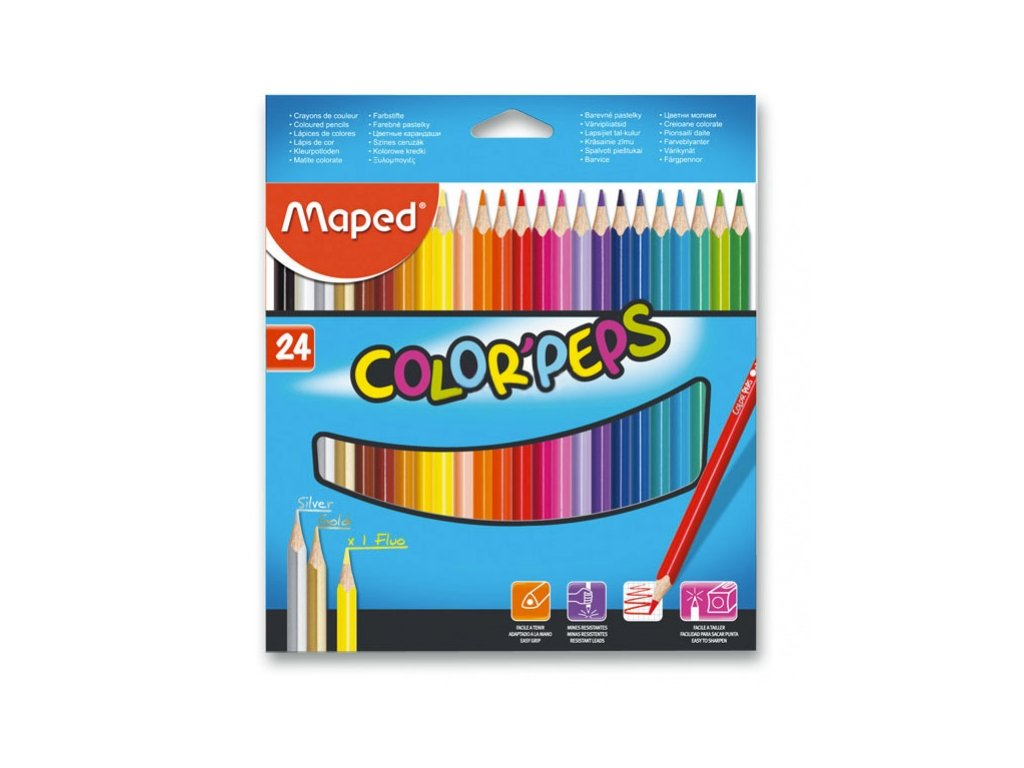 Pastelky Maped Color Peps 24ks