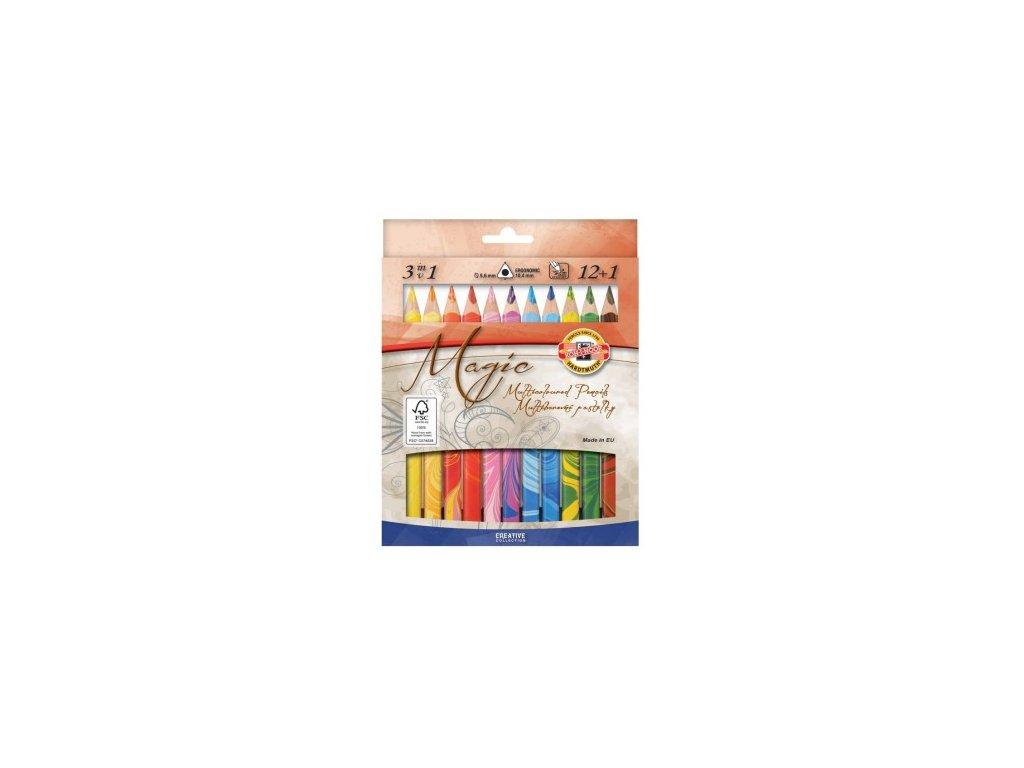 Pastelky KOH-I-NOOR 3408/12+1 Magic trojhranné