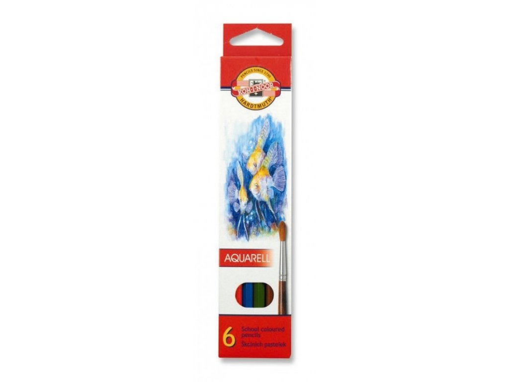 Pastelky KOH-I-NOOR  3715/ 6 akvarelové