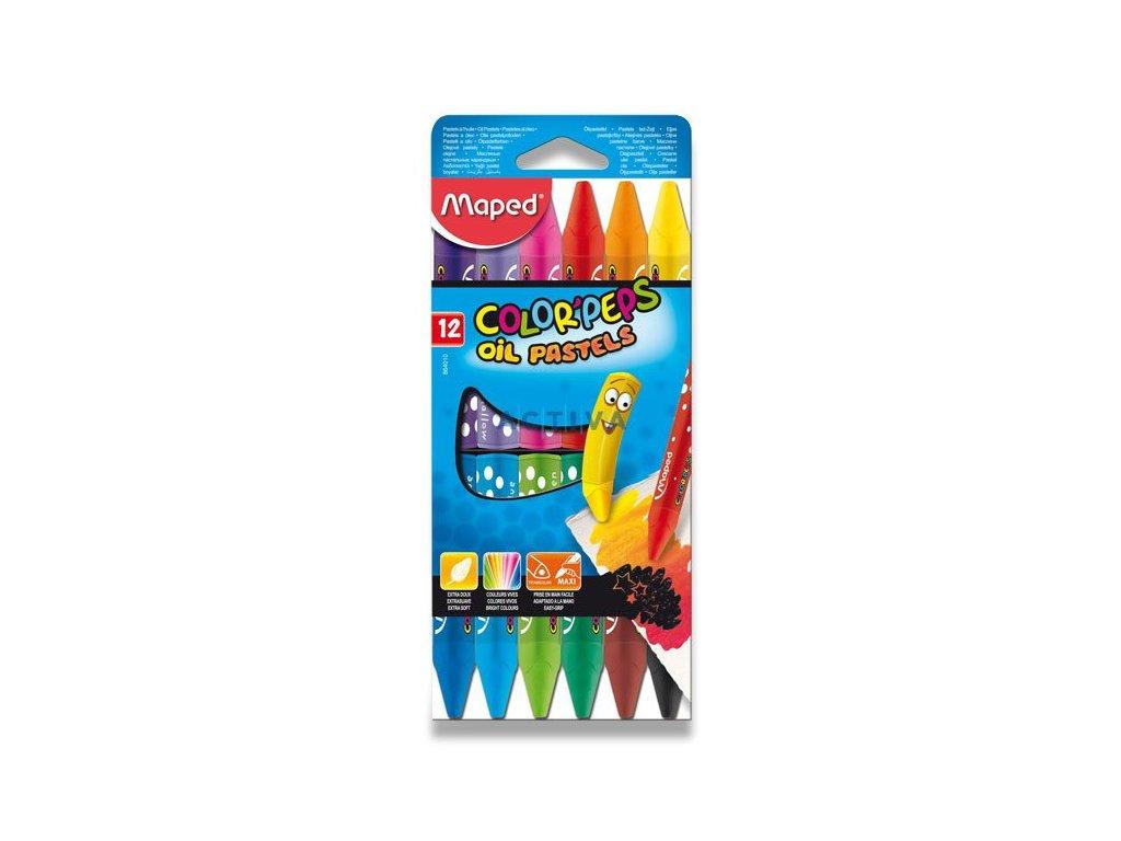 Olejové pastely Maped Color'Peps Oil Pastels - 12ks