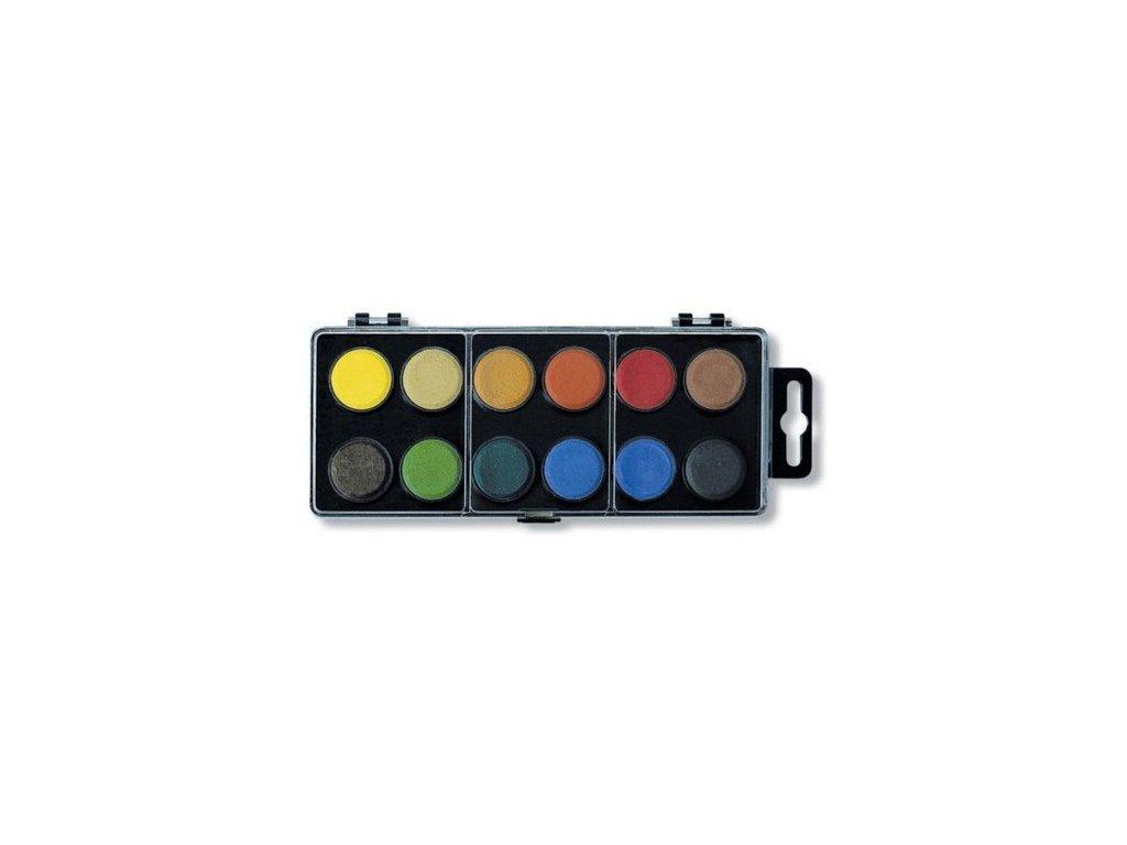 Vodové barvy KOH-I-NOOR 12 barev, průměr 22,5mm