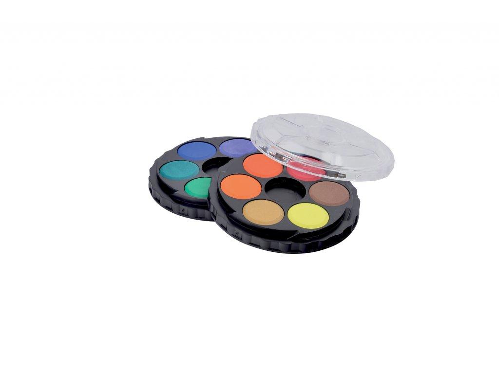 Vodové barvy KOH-I-NOOR kulaté 12 barev