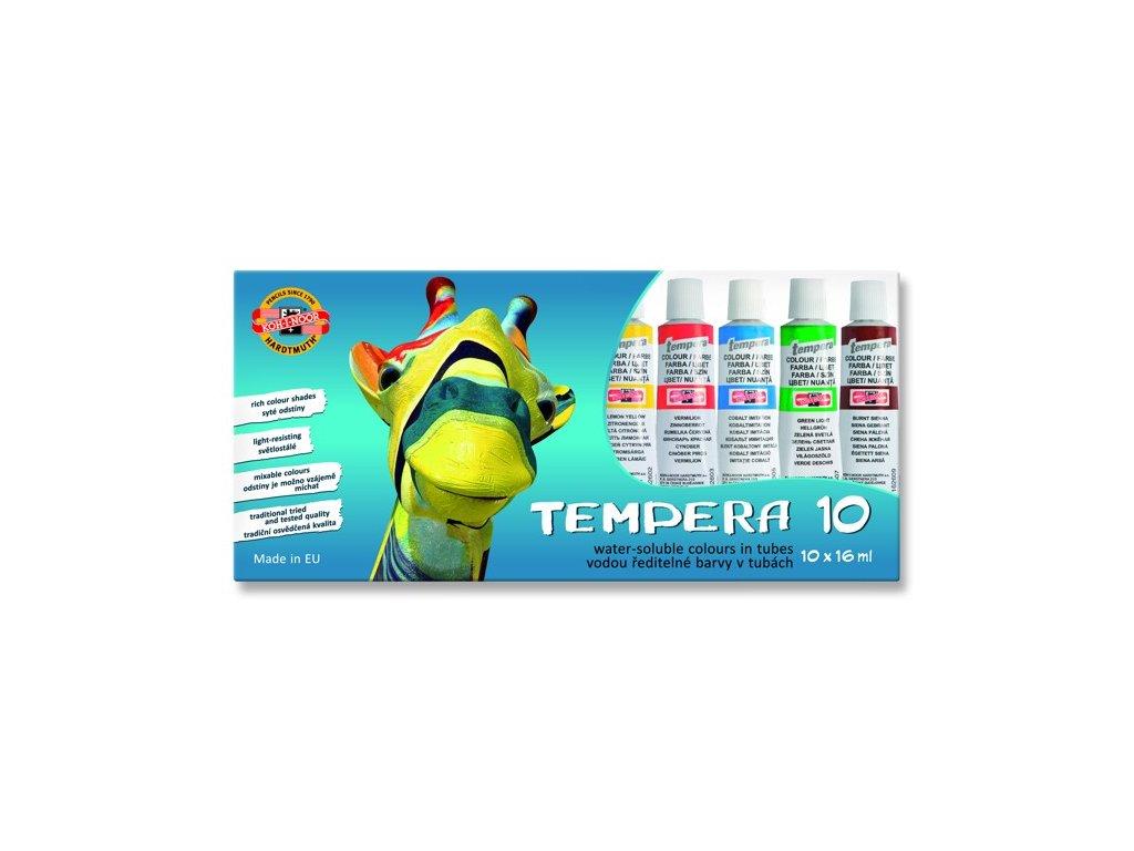 Temperové barvy KOH-I-NOOR 10ks, 16ml