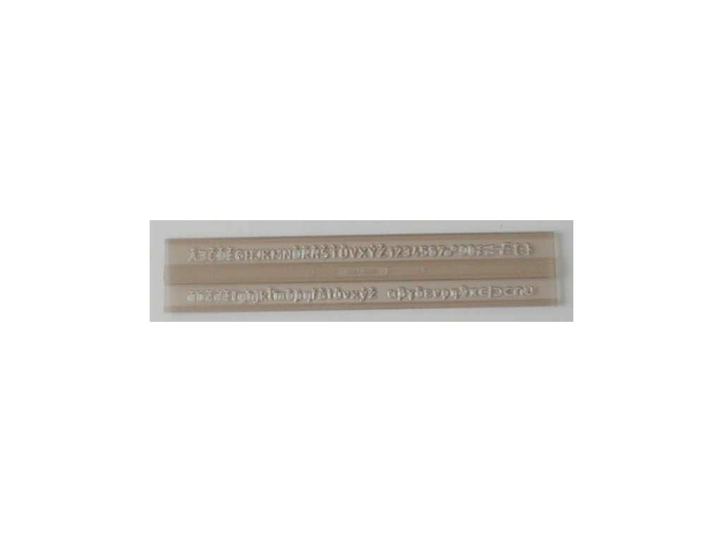 Šablona 0,5cm typ 911 písmo