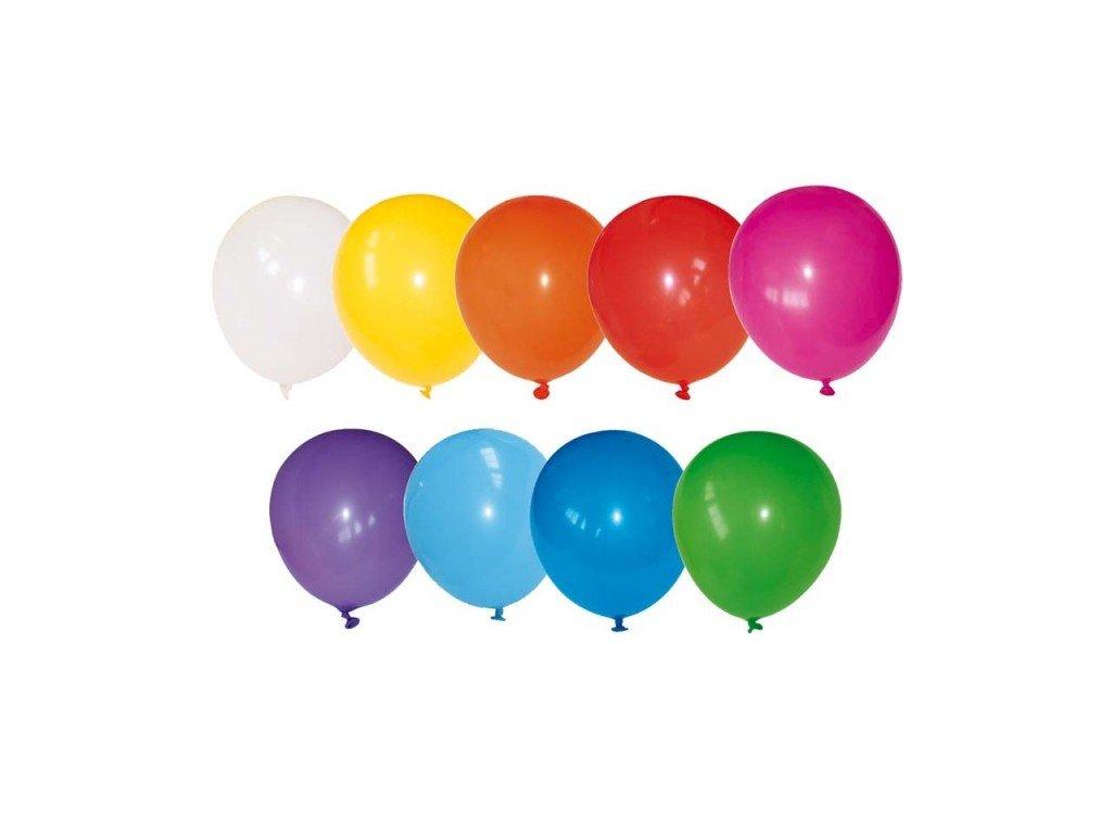 Barevné párty balónky nafukovací - fluo, 100ks, MIX barev