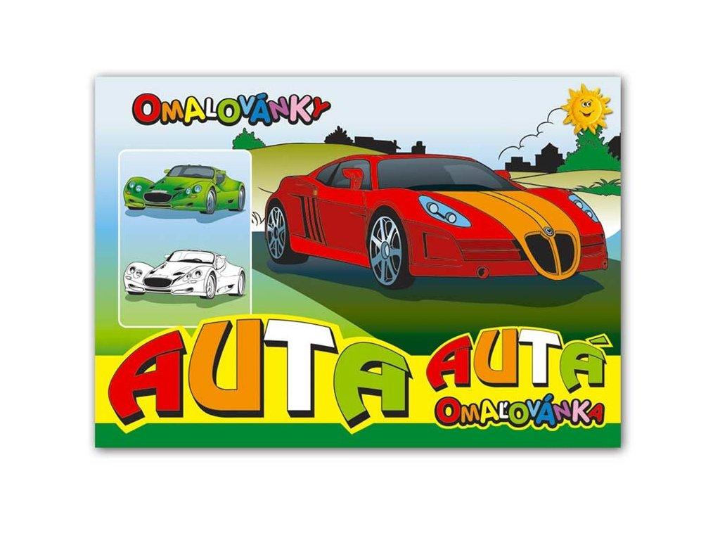 Omalovánky A5 Auta