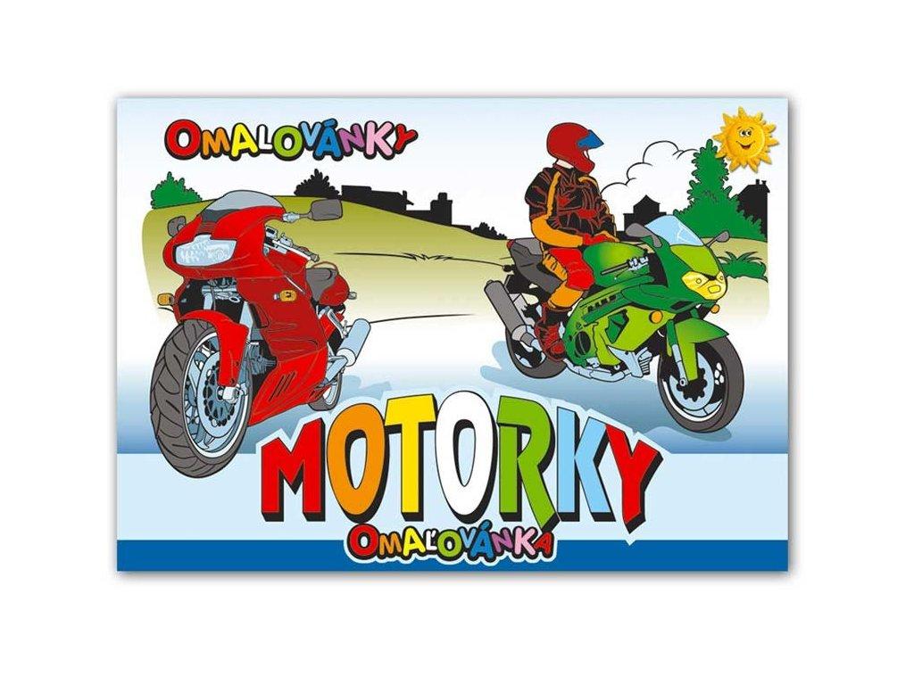 Omalovánky A5 Motorky